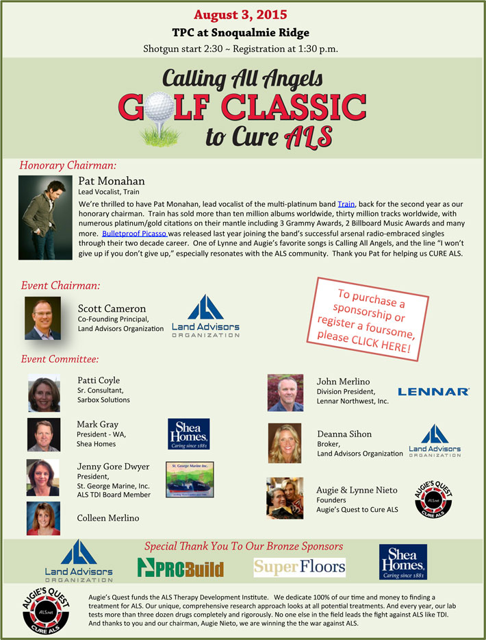 Calling All Angels Golf Classic to Cure ALS